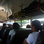 El primer trayecto en un autobús nica