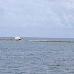 Un velero que acabó en los arrecifes