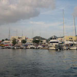 Llegando a Marigot, el lado francés