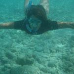 Virgi bajo el agua