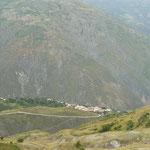 El pueblecito El Morro, en la ruta subiendo a Los Nevados
