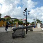 Cañones que decoran la ciudad