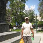 Jose en la Plaza Colón,  Puerto la Cruz