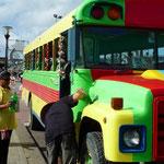Los autobuses con tours turísticos son bien llamativos