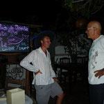 Y después rumba... En la foto Fabio, un italiano que vive en Los Roques