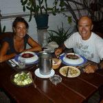 Cenando en El Rincón de la ballena