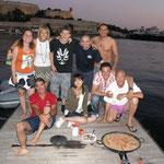 Paella con los compañeros de Ferdy