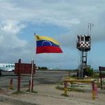 La torre de control del aeropuerto del Gran Roque