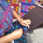 Detalle del telar de cintura en Santa Catarina Palopó