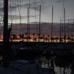 Atardecer en el Puerto deportivo de Las Palmas