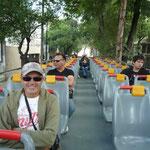 En el turibus recorriendo la ciudad
