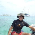 Yendo a las islas con el dinghy