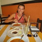 Comiendo un menú en El Trapiche