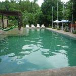 La piscina del hostel