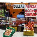 Puestecito de productos típicos andinos