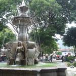 La fuente del parque