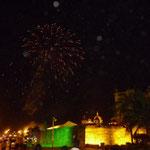 Fuegos artificiales festejan la llegada del 2011