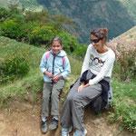 Con Graciela María, una niña encantadora del lugar