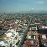 Vistas de la Ciudad de México desde la Torre Latinoamericana