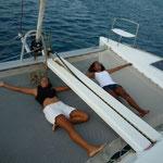 Las comodidades de los catamaranes