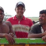 Con nuestros amigos pescadores