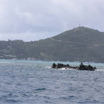 Mosquito rock, un saliente al lado de la isla de Mosquito