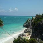 Vistas del Caribe desde las ruinas