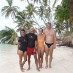 Con Monika y Eric del Aroha
