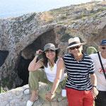 Pepa, Ferdy y Jose en el Blue Grotto