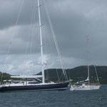 El Bahía aproximándose al gran velero español