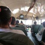 Autobús Granada-Masaya, con tele y todo!