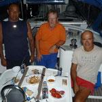 Con Miguel, Morrocoy, y su compadre en el Sonseca