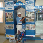 Parada de venta de diarios