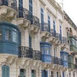 Los balcones característicos de Malta