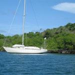 Barco preparado por si pasa algún huracán por la zona