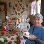 Boquete. Comiendo unas exquisitas fresas en el barrio de Los Naranjos