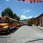 Parada de autobuses en Sololá