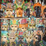 Máscaras típicas de souvenir