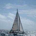 Navegando junto al Bahía de Bequia a Canouan