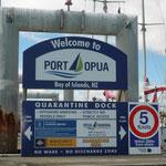 Llegada a Opua