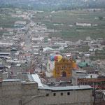 San Andrés Xecul, vistas del pueblo desde la cima