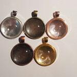 Amulett mit Glas in 5 Farben erhältlich, befüllbar mit Bild oder Text, wenig Fell/Haare, inkl. Band, auch ohne Glas, dafür mit Micropummel möglich, Preis je nach Aufwand