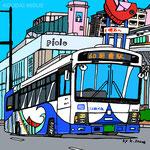 「明石のバス」2016年ペン・CG