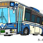 「さよなら市バス塗装車」2017年ペン・cg