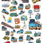 「BUS stickers」LINEスタンプ 2016年 ペン・CG