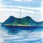 「瀬戸内のとある島」2013年水彩