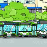 「緑の市バス」2017年ペン・CG