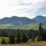 vom Trekkingweg Blick nach Ellmau