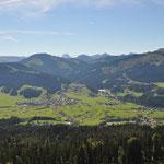 Blick Richtung Ellmau und Hartkaiserbahn