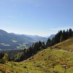 Blick von der Jausenstation ins Tal